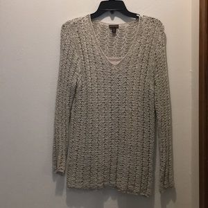 Lacey weave sweater